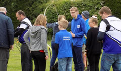 Lincolnshire Archery Club Group of new archers at our open day